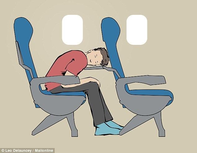 8 tư thế giúp bạn dễ ngủ hơn khi đi máy bay - 2