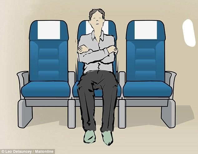 8 tư thế giúp bạn dễ ngủ hơn khi đi máy bay - 4