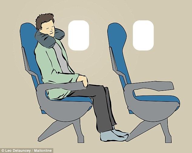 8 tư thế giúp bạn dễ ngủ hơn khi đi máy bay - 5