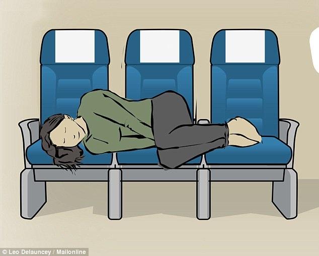 8 tư thế giúp bạn dễ ngủ hơn khi đi máy bay - 6
