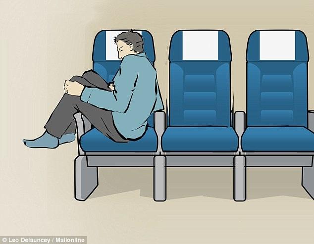 8 tư thế giúp bạn dễ ngủ hơn khi đi máy bay - 8