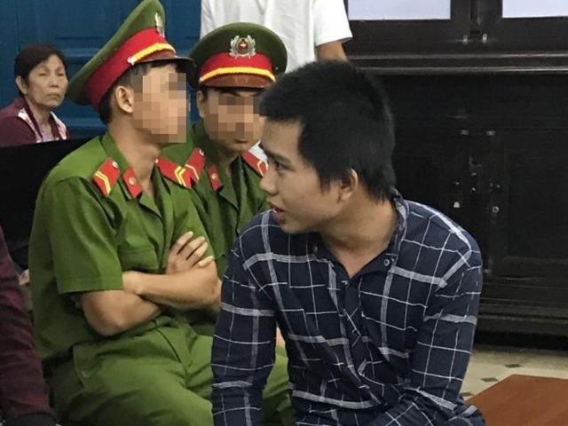 Đặng Thanh Tuấn tại phiên tòa xét xử phúc thẩm cuối năm 2016.