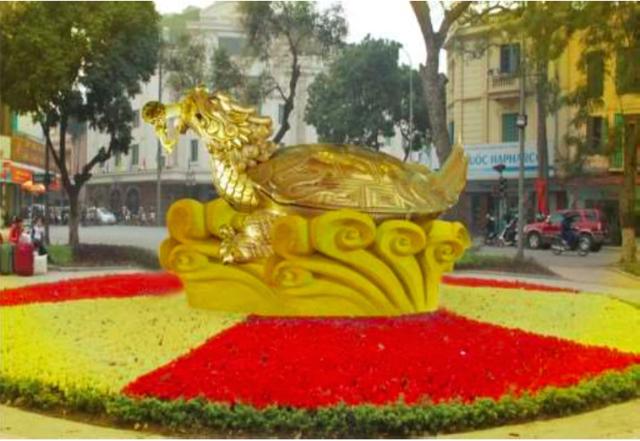 """Công dân Tạ Hồng Quân vừa đề xuất UBND TP Hà Nội đề án """"Đúc biểu tượng rùa vàng Hồ Gươm"""", nặng khoảng 10 tấn, đặt bên hồ Hoàn Kiếm."""