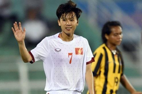 Tiền vệ Tuyết Dung của đội tuyển nữ Việt Nam