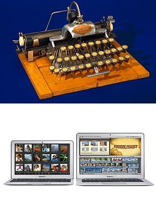 Blicksenderfer Manufacturing Company là công ty sản xuất ra máy đánh chữ điện tử đầu tiên vào năm 1902. Cho tới nay thì chúng đã tuyệt chủng và bị thay thế hoàn hảo bởi bàn phím sử dụng trên PC, laptop.