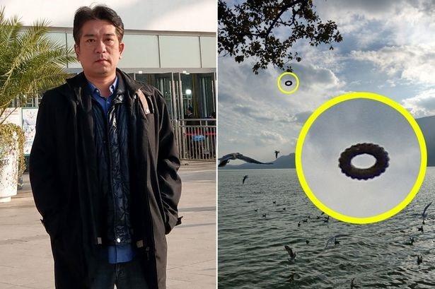 """Du khách chụp được một chiếc UFO hình """"bánh vòng"""" bí ẩn - 1"""
