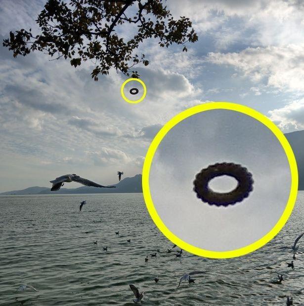 Vật thể bí ẩn này đã xuất hiện và trông như đang bị treo lơ lửng giữa không khí.