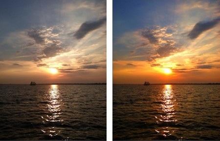 Một hình ảnh trước và sau khi được tối ưu bởi SnapSeed