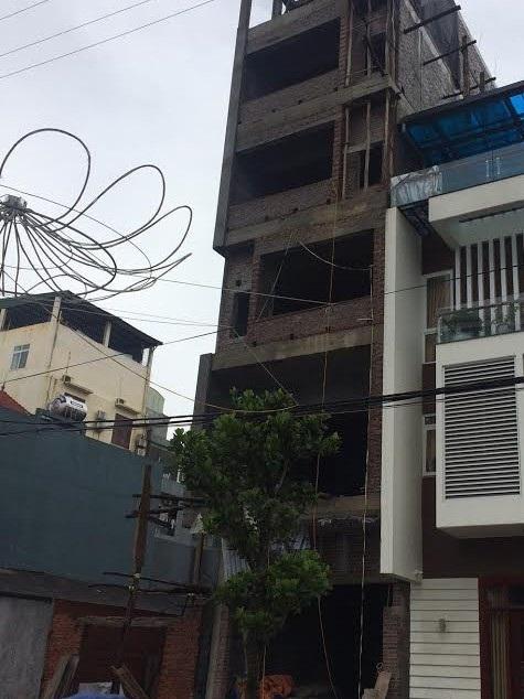 Công trình xây dựng nơi xảy ra vụ tai nạn. (ảnh CTV)