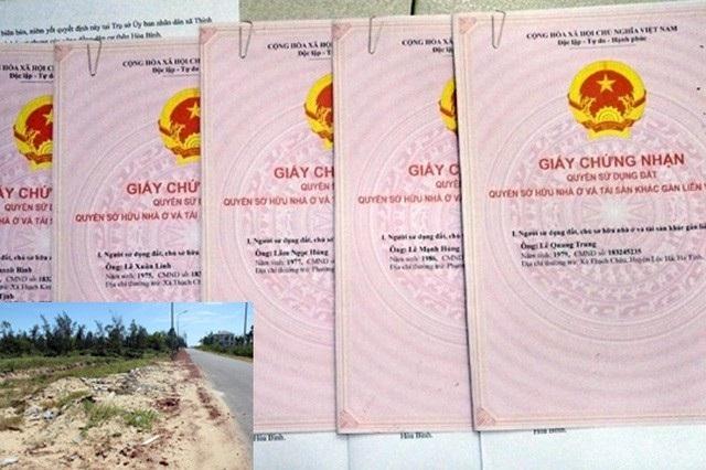 Các bìa đất cấp sai sau đó được UBND huyện Lộc Hà thu hồi, hủy bỏ.