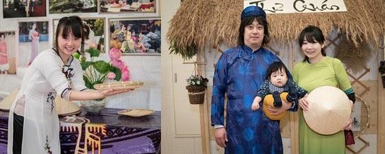 Bạn bè Nhật hào hứng trải nghiệm áo dài Việt - 3