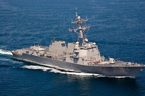 Tàu khu trục Mỹ USS Sterett. (Ảnh: Hải Quân Mỹ)