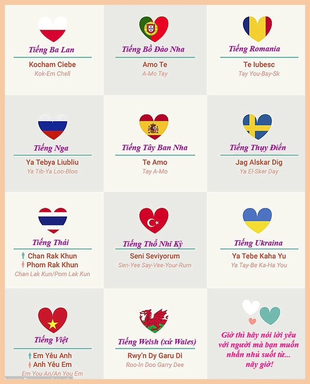 Cách nói lời yêu trong 50 ngôn ngữ - 4