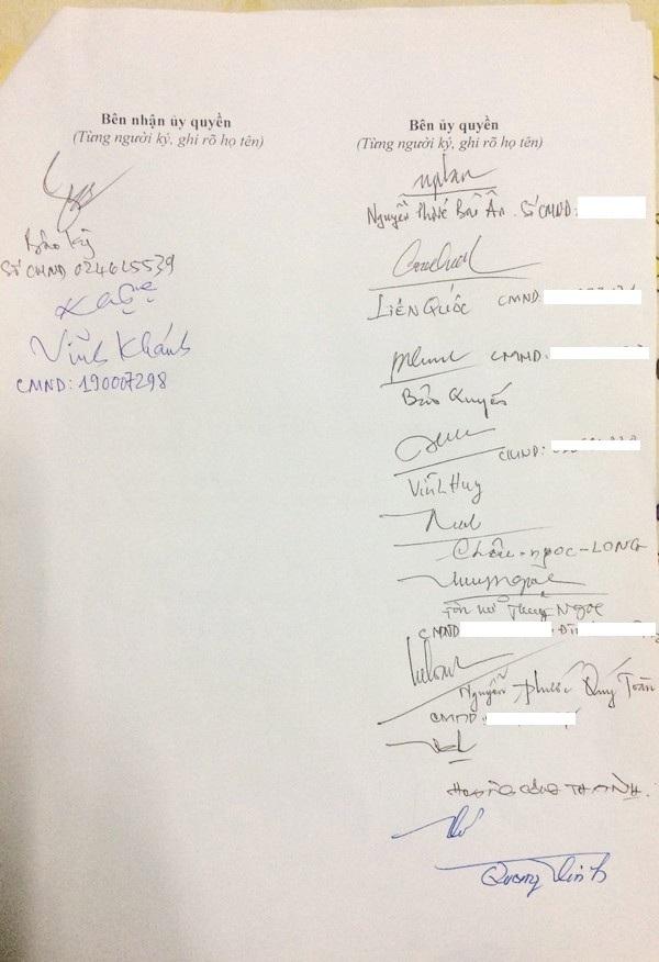 Nguyễn Phước Tộc tại TP Hồ Chí Minh viết giấy ủy quyền cho ông Vĩnh Khánh và Bảo Kỳ làm đại diện để làm làm việc, khiếu nại, khởi kiện các bên liên quan là UBND TP Huế, Công ty TNHH Thương mại và Dịch vụ Chuỗi Giá Trị