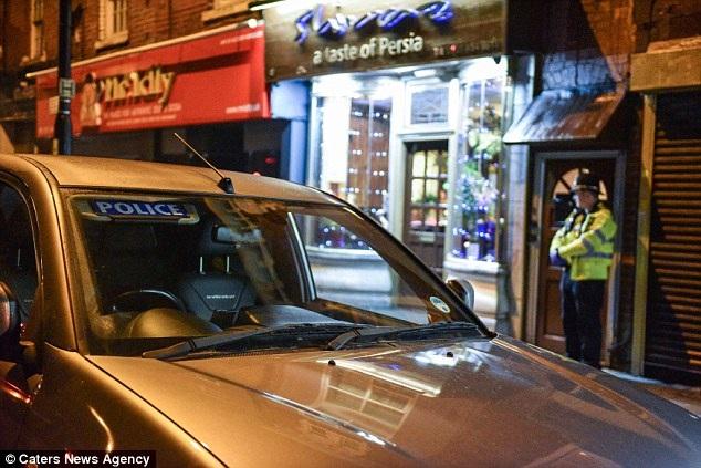 Chiếc ô tô gây án được cho là thuê ở Birmingham từ thứ Năm tuần trước. (Ảnh: CNA)