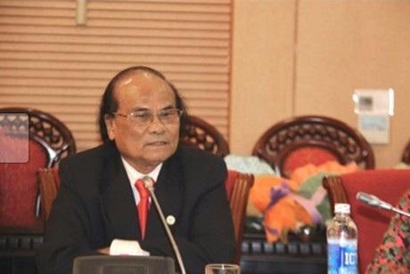 GS-TS. Đinh Quang Báo, nguyên Hiệu trưởng Trường ĐH Sư phạm Hà Nội. (Ảnh: Vietnamnet)