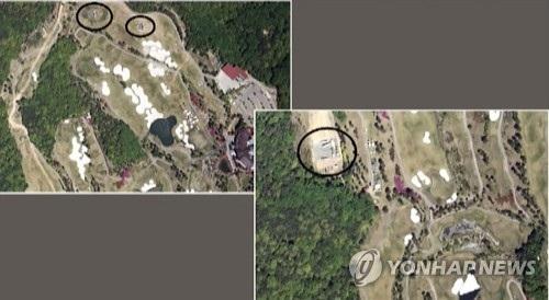 Ảnh vệ tinh được cho là chụp lại vị trí triển khai THAAD. (Ảnh:Yonhap)