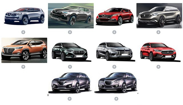 Các mẫu thiết kế dòng SUV của VinFast