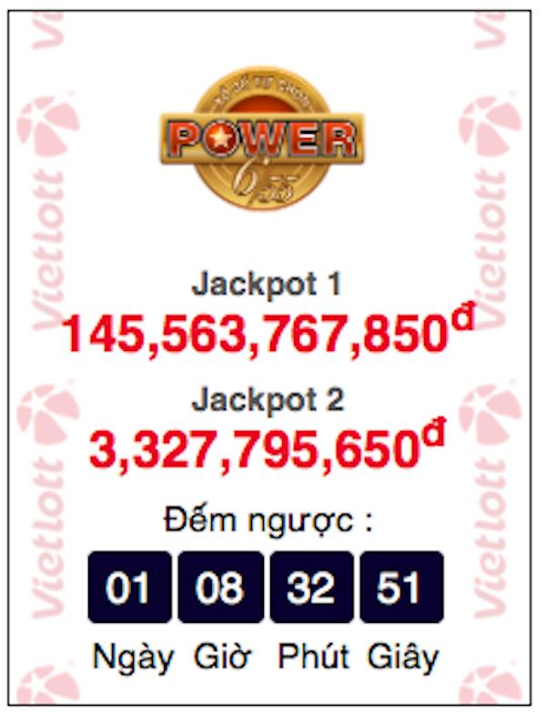 Tiếp tục đếm ngược để tìm chủ nhân giải Jackpot 1 và 2
