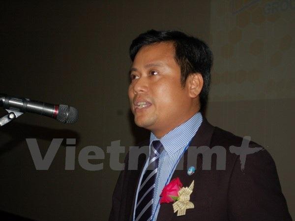 Chủ tịch VSAK Phạm Hải Chiến phát biểu tại hội thảo. (Ảnh: Vũ Toàn-Hữu Tuyên/Vietnam+)