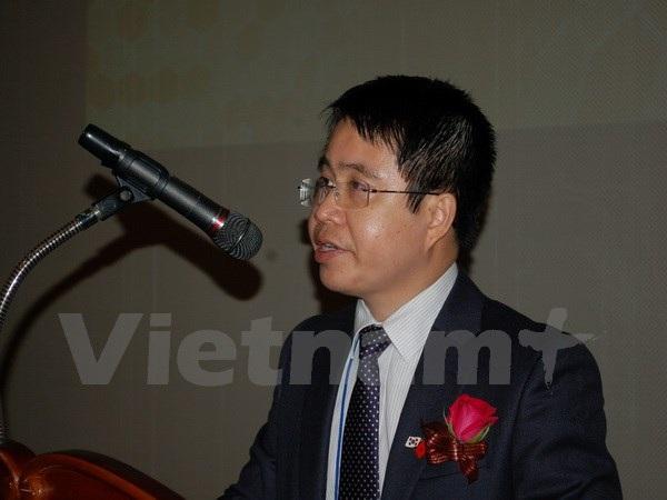 Phó Đại sứ Trần Anh Vũ phát biểu tại hội thảo. (Ảnh: PV/Vietnam+)