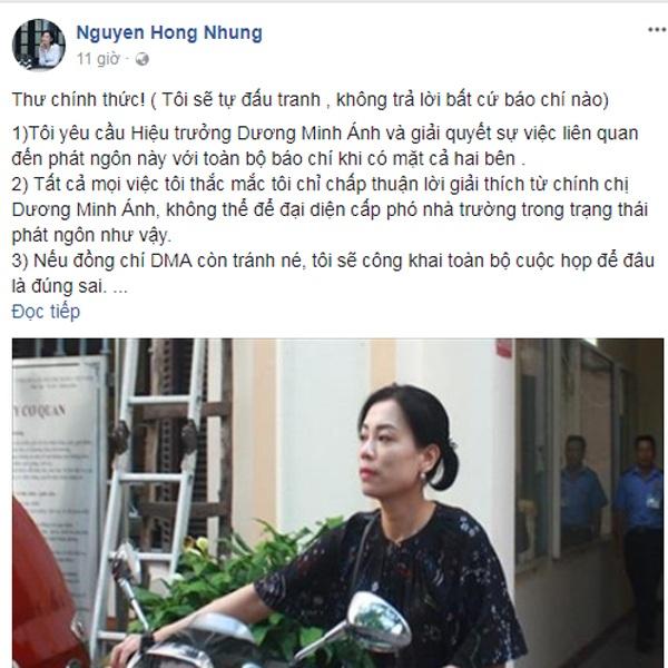 Vợ Xuân Bắc bức xúc trước kết luận của Trường Cao đẳng Nghệ thuật Hà Nội.