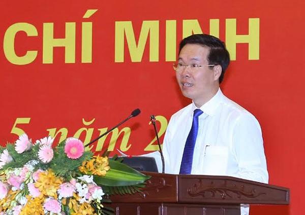 Trưởng Ban Tuyên giáo Trung ương Võ Văn Thưởng phát biểu chỉ đạo hội nghị.
