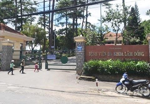 Bệnh viện đa khoa Lâm Đồng nơi xảy ra vụ việc