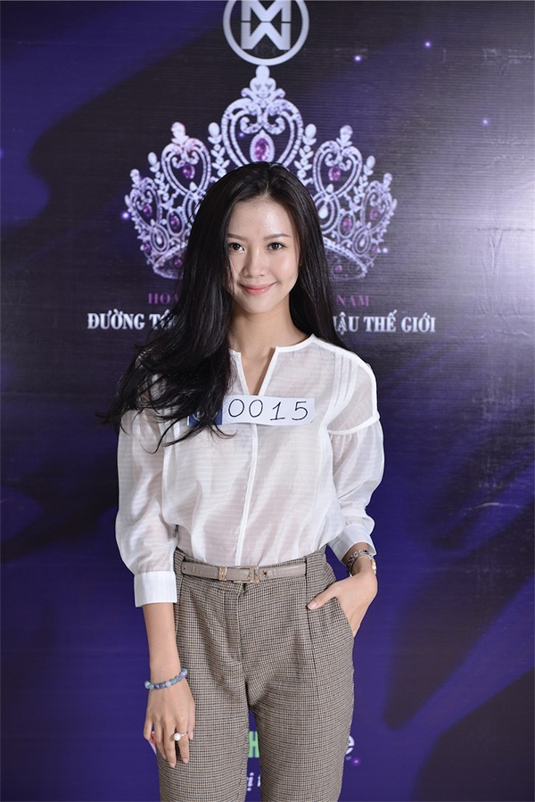 Vũ Ngọc Châm tham gia cuộc thi Hoa khôi áo dài và trở thành ứng cử viên sáng giá nhưng không có được vị trí mơ ước để dự thi Hoa hậu thế giới