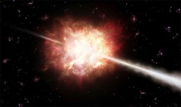 .Hình ảnh về vụ nổ tia gamma.