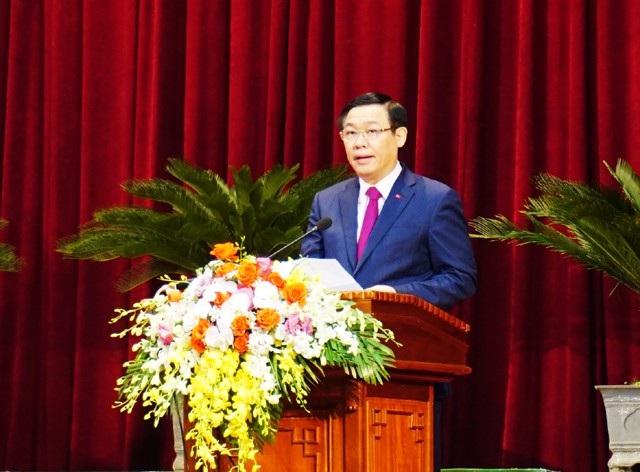 Phó Thủ tướng Chính phủ Vương Đình Huệ phát biểu tại lễ kỷ niệm