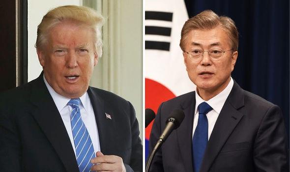 Tổng thống Mỹ và tổng thống Hàn Quốc