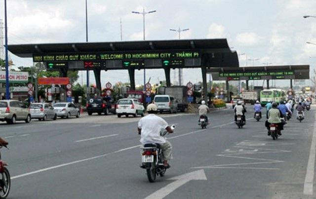 Trạm thu phí trên xa lộ Hà Nội