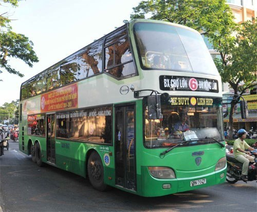Xe buýt 2 tầng tại TPHCM sẽ bị khai tử vào cuối năm nay (ảnh Báo Xây dựng)