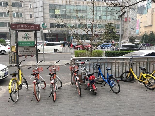 Xe đạp công cộng ở Trung Quốc (ảnh P.N)