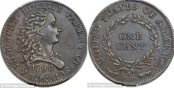 Đồng xu Birch Cent (Ảnh: Heritage Auctions)