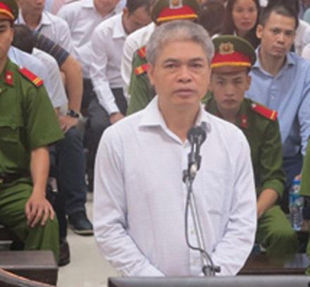 Nguyễn Xuân Sơn, cưụ Tổng Giám đốc Oceanbank bị đề nghị mức án tử.