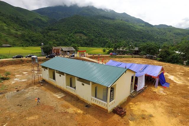 Toàn cảnh 3 phòng học Dân trí tại Yên Bái nhìn từ trên cao