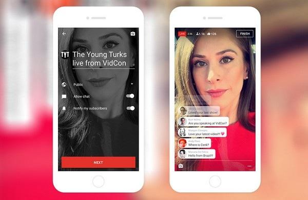 """Video trực tiếp từ smartphone sẽ được dán nhãn """"Live"""" và cho phép người dùng bình luận"""