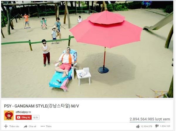 """... chỉ nhỉnh hơn chút ít so với số lượt xem của """"Gangnam Style"""", nhưng cũng đủ để giúp ca khúc này đoạt được """"ngôi vương"""""""
