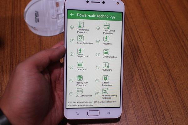 Ứng dụng quản lý pin trên Zenfone 4 Max Pro, trong đó có tính năng an toàn giúp quản lý nhiệt độ của pin để tránh trường hợp cháy nổ có khả năng xảy ra