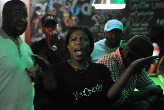 Một người dân Zimbabwe bức xúc sau bài phát biểu của Tổng thống Mugabe. (Ảnh: AFP)