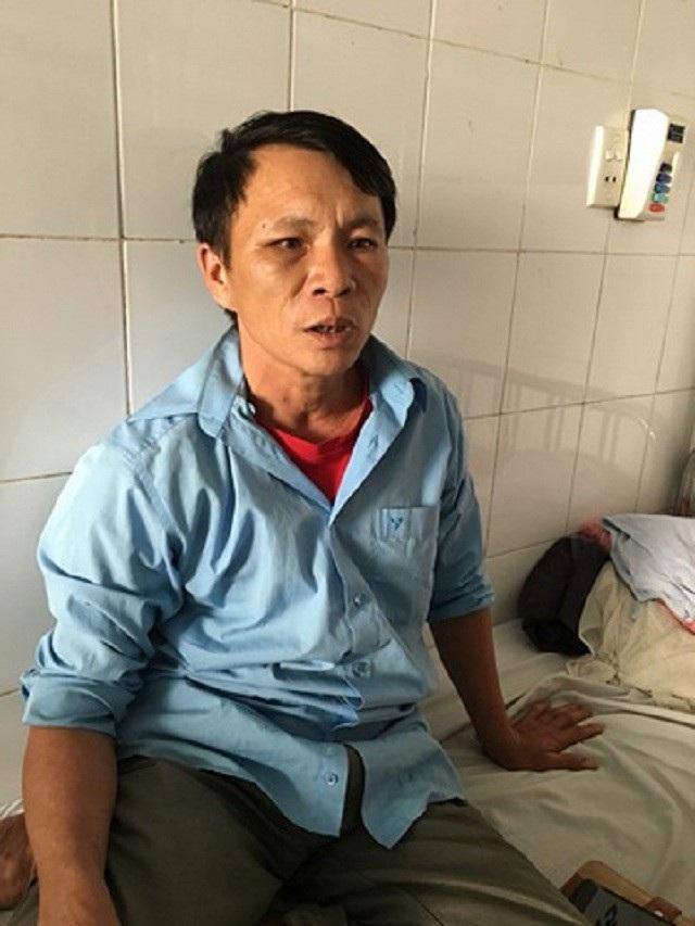 Ông Tài hiện đang nằm điều trị tại Bệnh viện đa khoa khu vực Bắc Quảng Bình