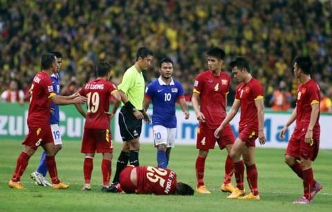 Trọng tài Ma Ning từng gây bất lợi cho đội tuyển Việt Nam trước Malaysia ở bán kết lượt đi AFF Cup 2014
