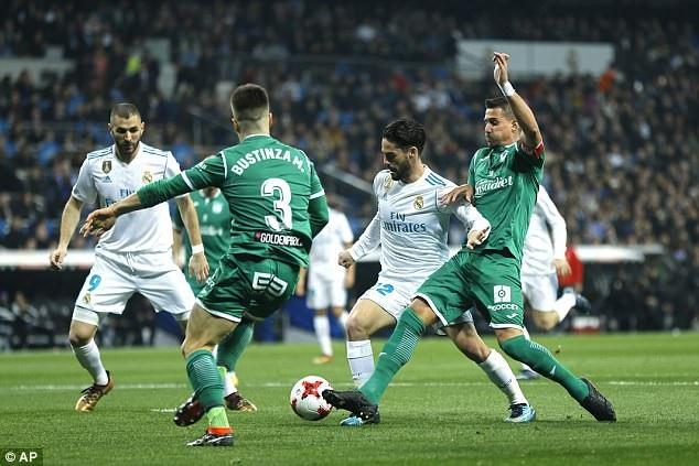 Real Madrid đã nhập cuộc không tốt trước Leganes