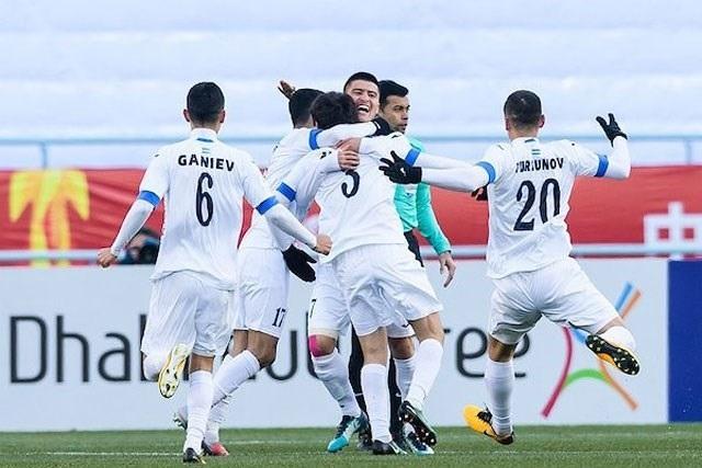 U23 Uzbekistan sử dụng đội hình vô cùng đồng đều