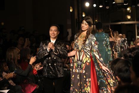 Model Florence Precy cùng NTK Đỗ Trịnh Hoài Nam.