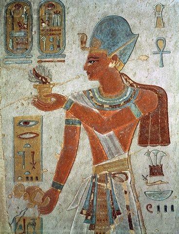 Người Ai Cập cổ đại khắc họa Rames Đại đế bằng tranh vẽ trên tường