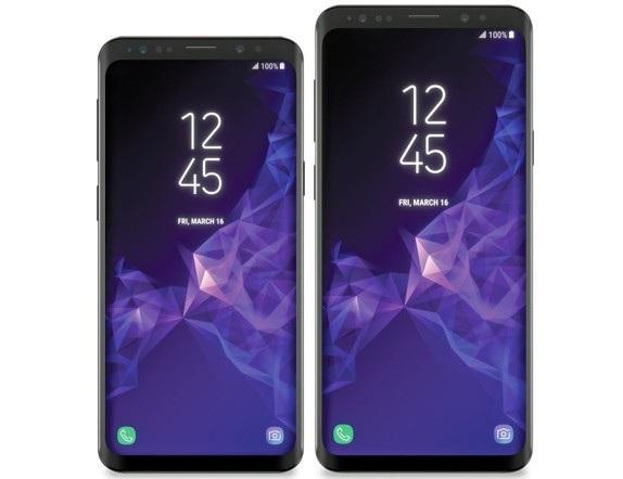 Hình ảnh mặt trước bộ đôi Galaxy S9/S9+ bị rò rỉ cho thấy 2 sản phẩm có thiết kế tương tự nhau