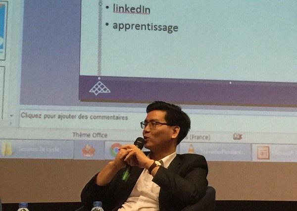 Diễn giả Nguyễn Đăng Hanh (giảng viên ĐH Giao thông vận tải và ESITIC Caen Pháp) - cựu nghiên cứu sinh tại Pháp.
